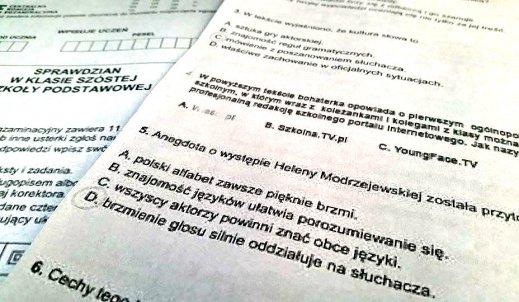 Pytanie o YoungFace.TV na egzaminie szóstoklasisty!