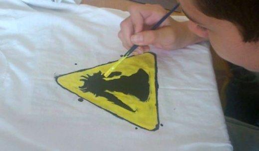 Twórcze malowanie koszulek