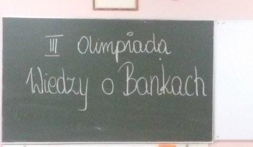 Olimpiada Bankowa etap szkolny:)