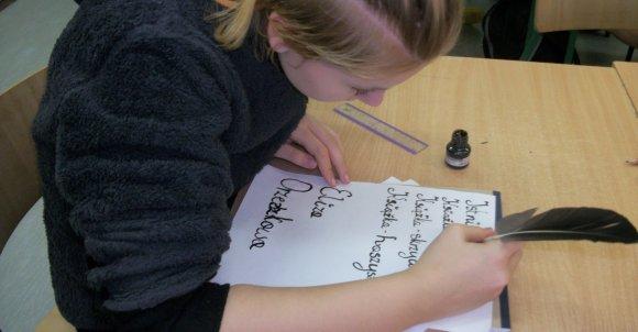 Warsztaty pisania gęsim piórem