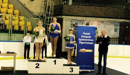 Nasza gimnazjalistka drugą wicemistrzynią Polski w łyżwiarstwie figurowym