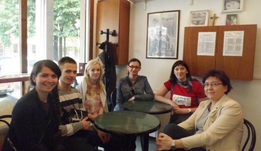 Wizyta kontrolna Dyrekcji i nauczycieli grupy uczniów Zs 1 w Bolonii