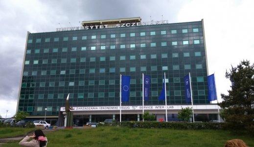 Nowoczesny gmach Uniwersytetu Szczecińskiego