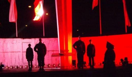 Święto 11 listopada, uroczystości na pomniku Wolności w Bytomiu