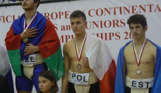 Brązowy medal dla naszego ucznia Bartosza Bonieckiego w Mistrzostwach Europy Kadetów w sumo 2017