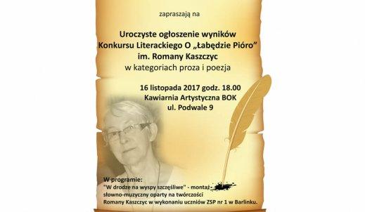 Konkurs literacki ,,O łabędzie pióro