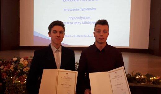Damian Łątka i Michał Czekaj stypendystami Prezesa Rady Ministrów 2017
