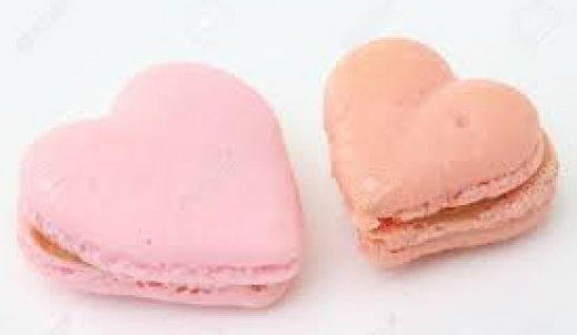 Makaroniki serca na Walentynki.