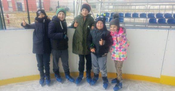 Najlepsi  koledzy na lodowisku