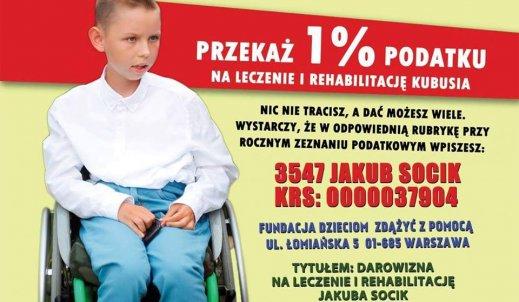1% podatku na leczenie i rehabilitację Kubusia!!!