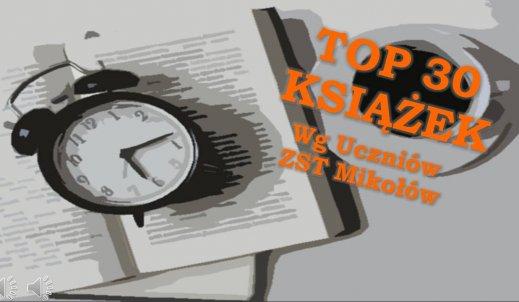 TOP Lista najchętniej czytanych książek przez uczniów ZST