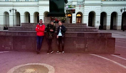 """Michał, Maksymilian i Dominik na warsztatach """"COLLEGIUM MŁODYCH – MEDIA I TECHNOLOGIE"""""""