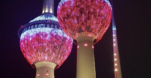 Najsłynniejsze wieże w Kuwejcie-Wieże Kuwejckie.