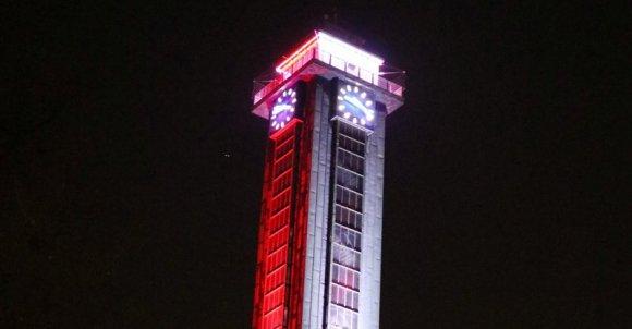 Czechy-wieża ratusza w Ostrawie.