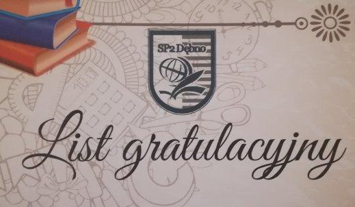 Apel z okazji rozdania listów gratulacyjnych w SP2 w Dębnie