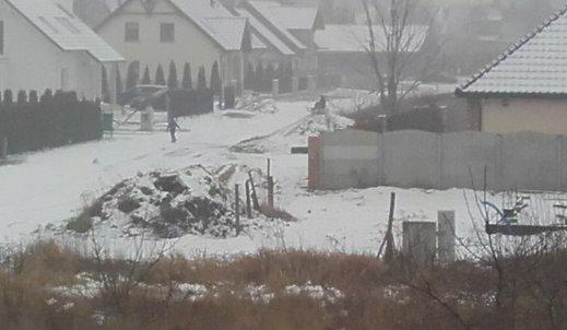 Śnieg podczas ferii w Dębnie