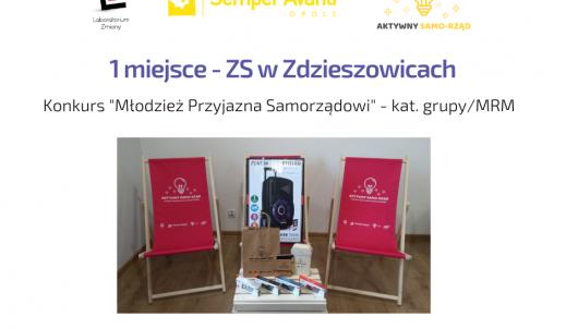 """I miejsce w konkursie """"Młodzież przyjazna Samorządowi"""""""