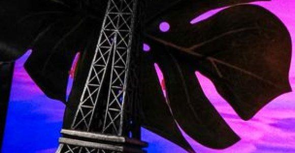 Do zrobienia takiego zdjęcia potrzebujesz:  -Figurki wieży Eiffla -Jakąś roślinkę -Tło -Zielona bibuła -Aparat lub telefon   Ustawienia dostosuj jak ci pasuje. Teraz tylko przerób zdjęcie w jakiejś aplikacji i gotowe!